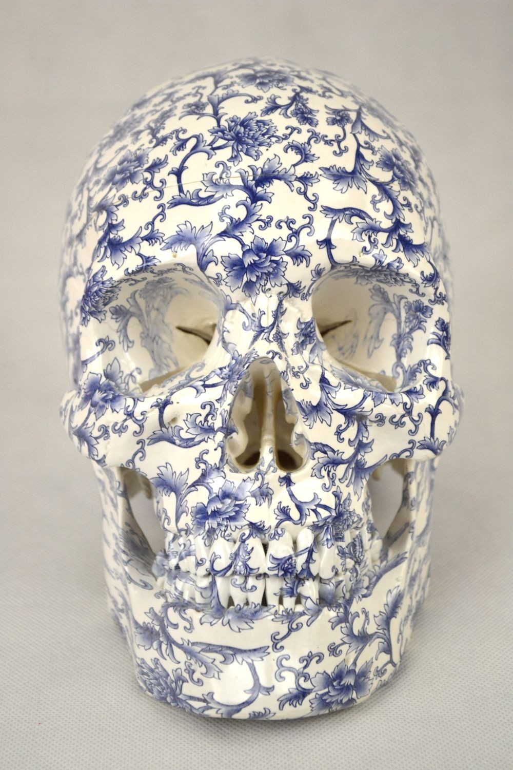 High Degree Emulation 1:1 Human Medical Skull Art Replica, 2-part, Life Size Art Pattern China
