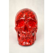 High Degree Emulation 1:1 Human Medical Skull Art Replica, 2-part, Life Size Rose Black