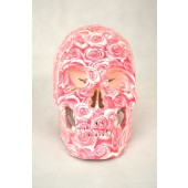 High Degree Emulation 1:1 Human Medical Skull Art Replica, 2-part, Life Size Rose White